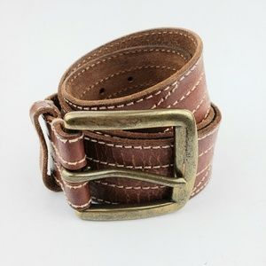Lucky Brand Brown Distressed Leather Belt 34